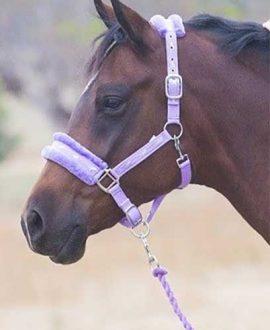 mink horse halter lilac left side jojubi saddlery