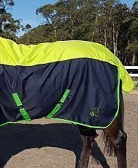 900d horse rain sheet combo navy green left back jojubi saddlery