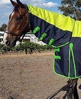 900d horse rain sheet combo navy green left front jojubi saddlery