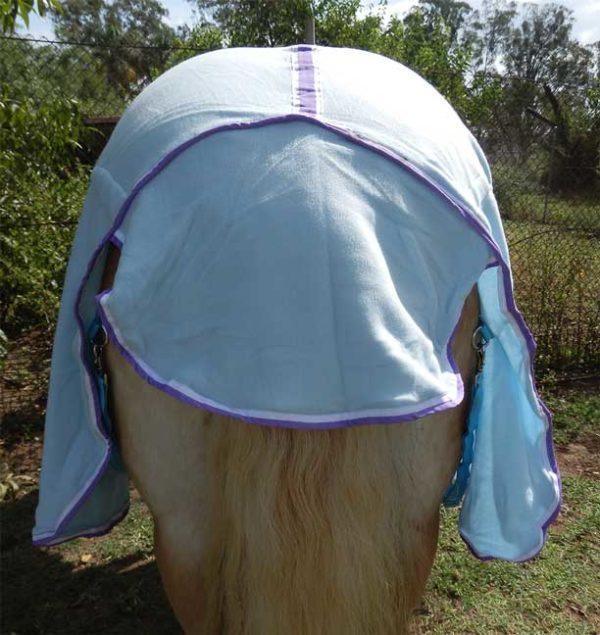 blue polar fleece back
