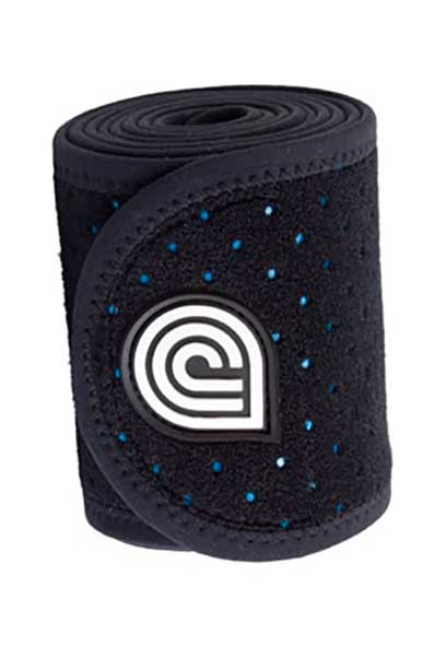 coolcore black ice and compression four inch horse wrap rolled up