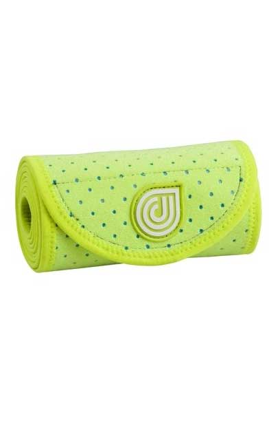 coolcore hi vis yellow ice and compression six inch horse wrap rolled up
