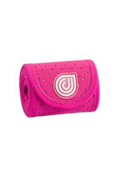 coolcore pink ice and compression four inch horse wrap rolled up