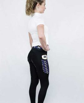 lara thermal horse riding tights back right side performa ride