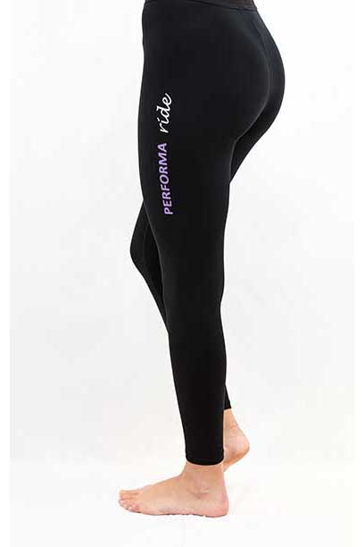 thermal non stick horse riding tights back left performa ride