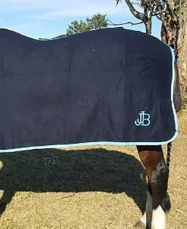 wool horse rug navy blue back left jojubi saddlery