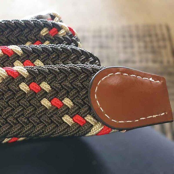 elasticised horse riding belt cement cream red jojubi saddlery 800