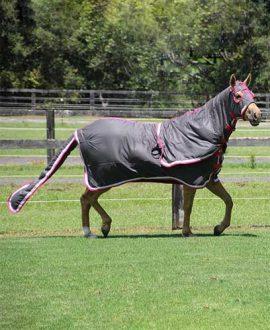 horse rug cotton show set grey pink right jojubi saddlery
