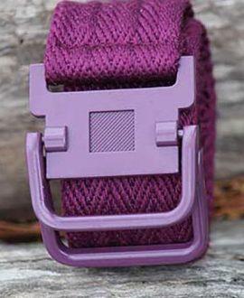 cotton alloy horse rider belt purple front performa ride