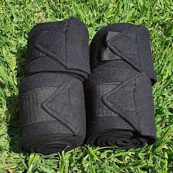 horse polo wraps black jojubi saddlery