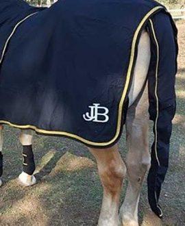 horse show set black gold back left jojubi saddlery