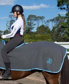 fleece horse exercise sheet grey left back jojubi saddlery