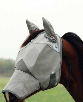 cashel crusader fly mask nose and ears left side jojubi saddlery