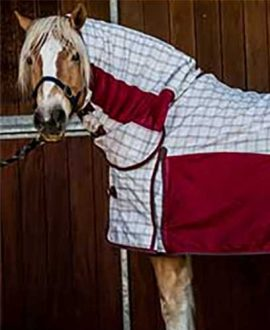 hybrid rip stop combo horse rug burgundy grey front jojubi saddlery