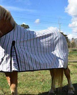 lilac stripe rip stop horse rug left side back jojubi saddlery
