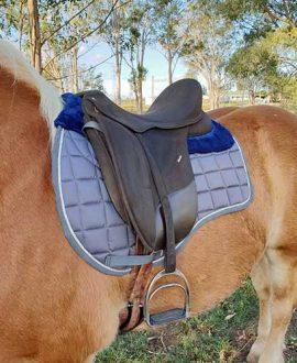 jojubi grey mink horse saddle pad