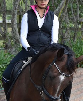 performa ride horse riding pink vest front