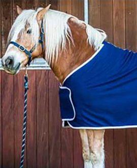 navy fleece tab front horse rug jojubi saddlery