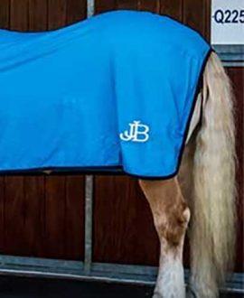 cotton tab front trophy horse rug sky blue back jojubi saddlery