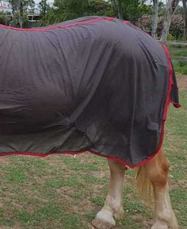 micro mesh horse rug combo left side back jojubi saddlery