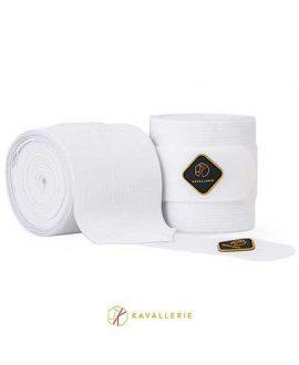 kavallerie elastic horse bandages white
