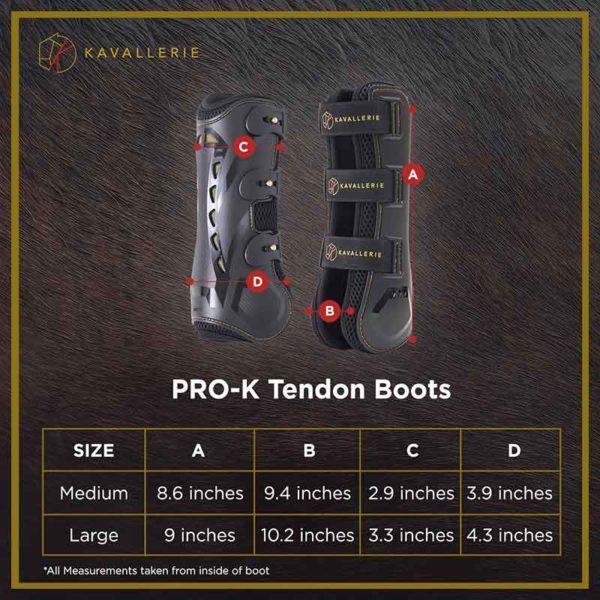 kavallerie pro k 3d air mesh tendon boots measurements 800