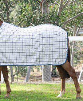 collar check wool horse rug back left jojubi saddlery
