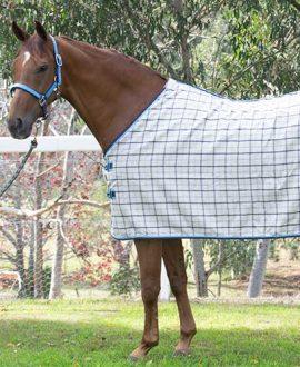 collar check wool horse rug front left jojubi saddlery