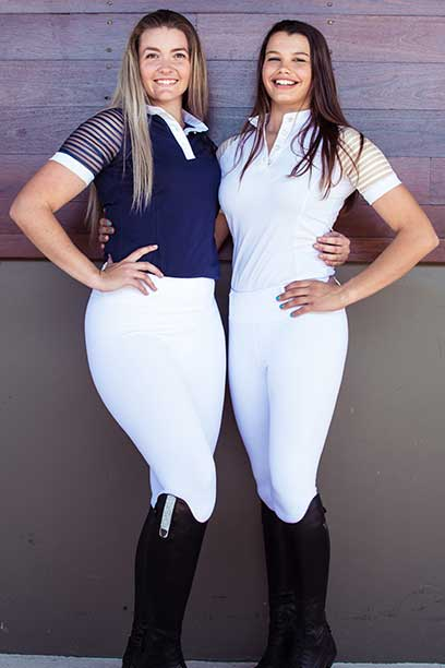 flexion horse riding tights white performa ride 4