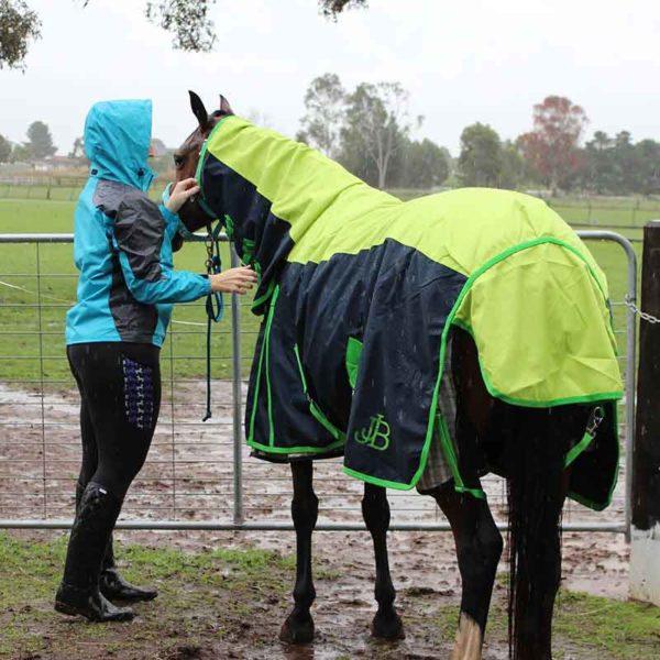 900d rain sheet horse combo left back jojubi saddlery 800