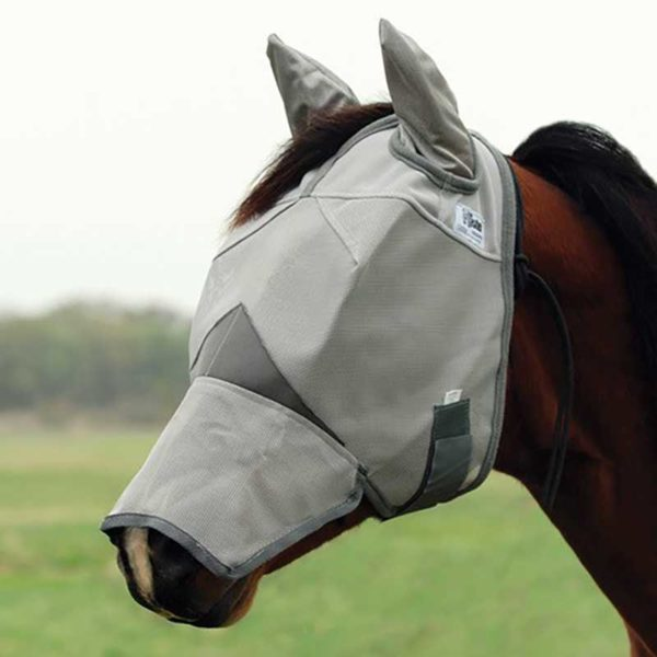 cashel crusader horse fly mask full nose mask ears 800