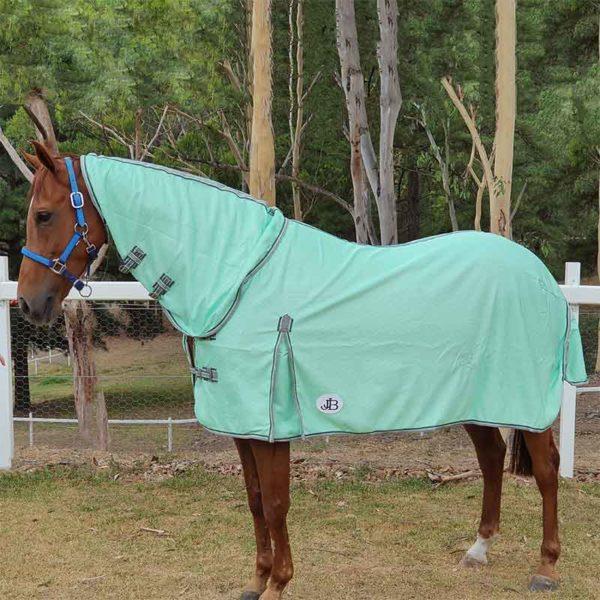 combo mesh horse rug mint left side 2 jojubi saddlery 800