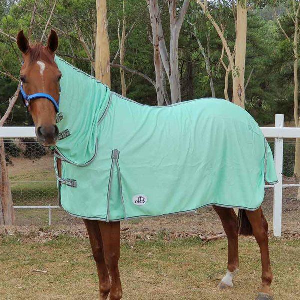 combo mesh horse rug mint left side jojubi saddlery 800