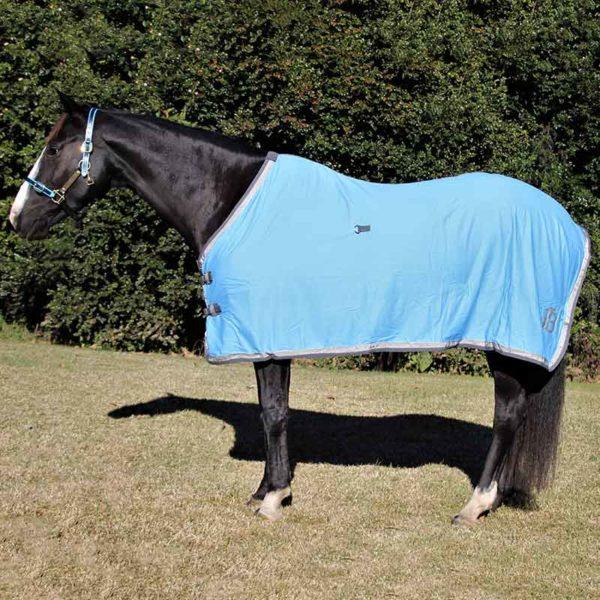 cotton horse rug sky blue left side jojubi saddlery 800