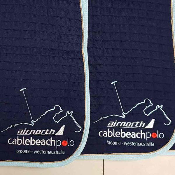 embroidery saddle pad cable beach polo jojubi saddlery 800
