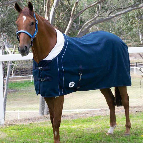 fleece horse rug double bonded front left jojubi saddlery 800