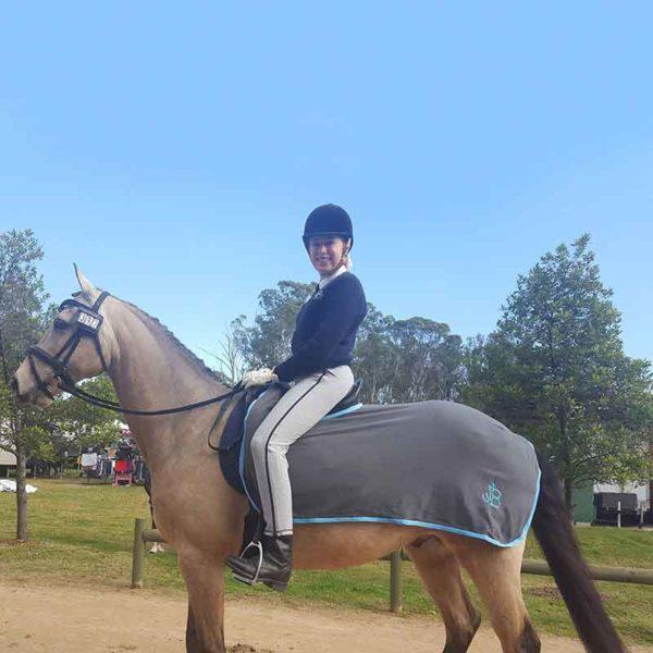 horse quarter sheet grey left side jojubi saddlery 800