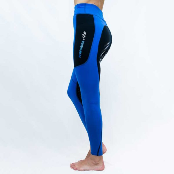 horse riding tights contrast seat blue left side performa ride 800