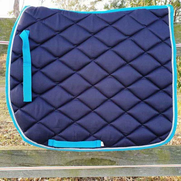 horse saddle pad navy left side jojubi saddlery 800