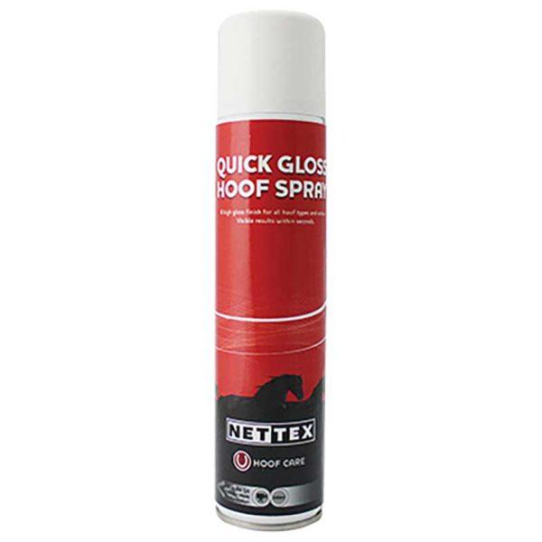 nettex quick gloss hoof spray 300ml jojubi saddlery 800