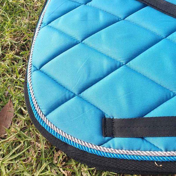 saddle pad aqua closeup jojubi saddlery 800