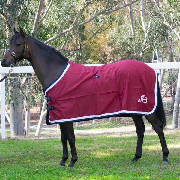 show set horse rug burgundy without hood left side jojubi saddlery 800