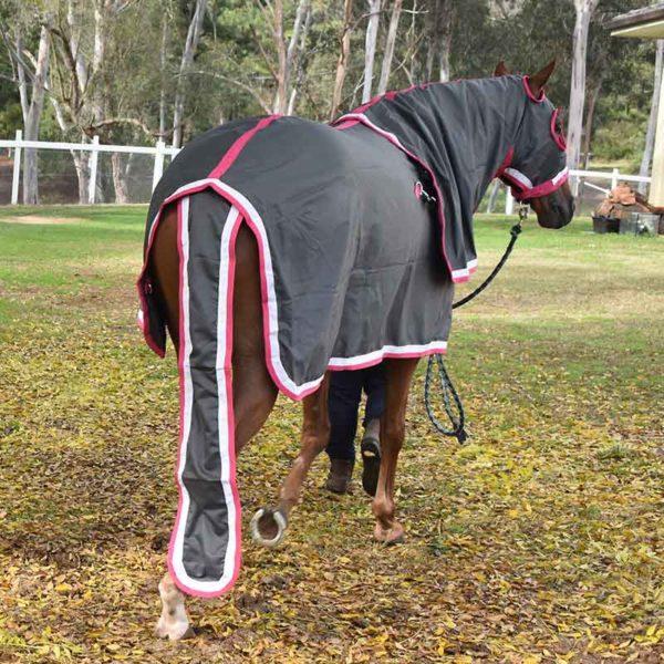 show set horse rug grey pink back jojubi saddlery 800