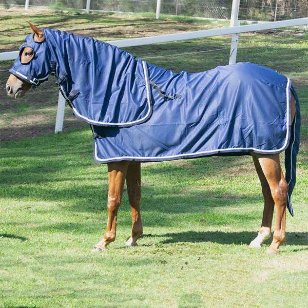 show set horse rug navy silver left side jojubi saddlery 800