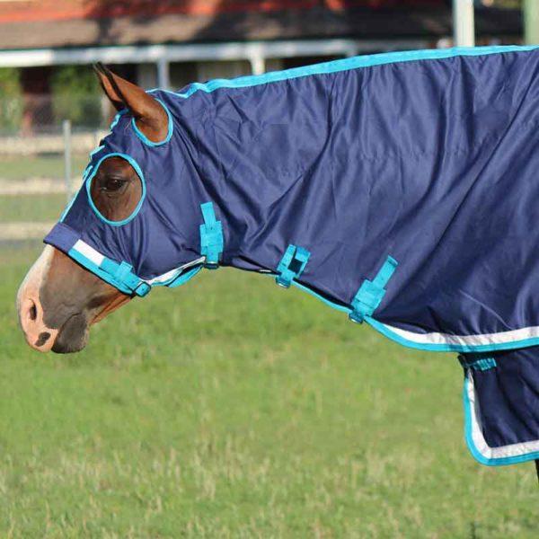 show set horse rug navy teal left side head jojubi saddlery 800