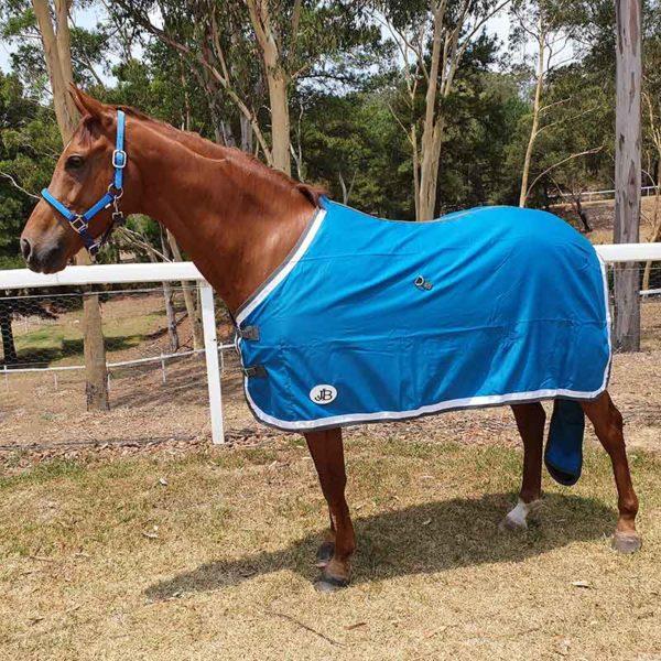 show set horse rug teal left side jojubi saddlery 800