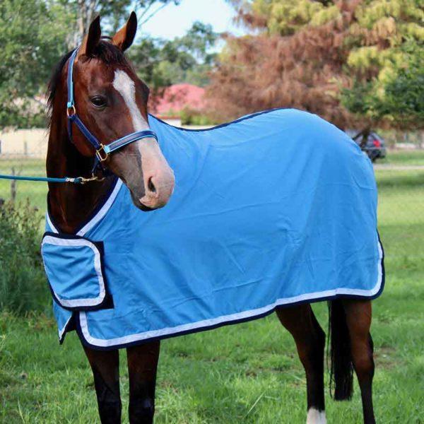 tab front trophy horse rug sky blue front left side jojubi saddlery 800