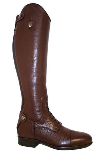 tattini breton brown top boot right front side 1