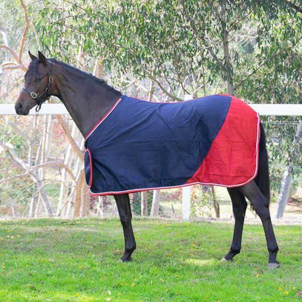 trophy horse rug colour block navy red left side jojubi saddlery 800