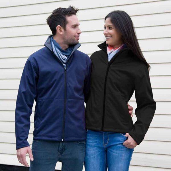 soft shell jacket navy black front side jojubi saddlery 800